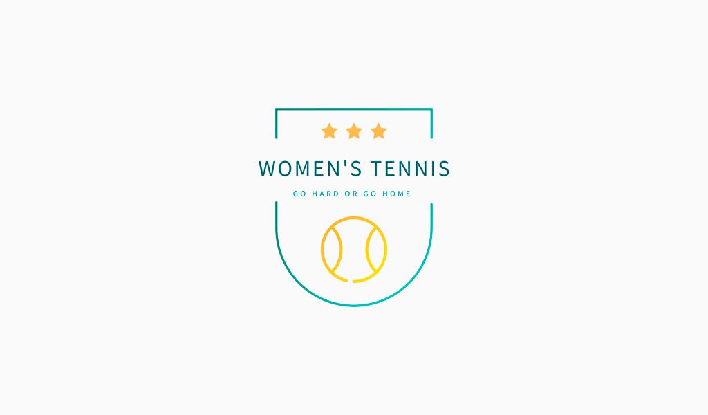 Логотип спортивной команды: женский теннис