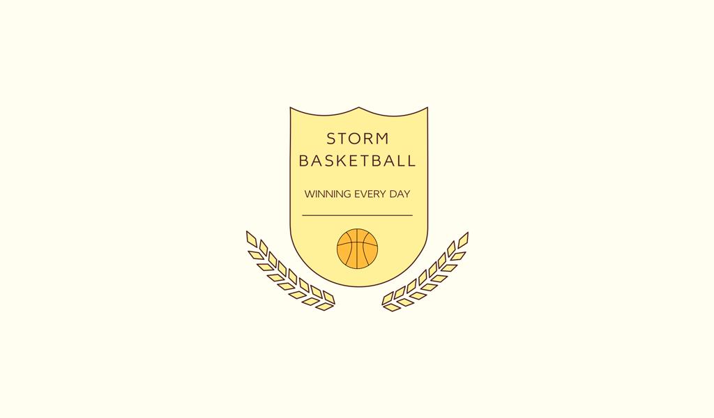 Логотип спортивной команды: баскетбольный мяч