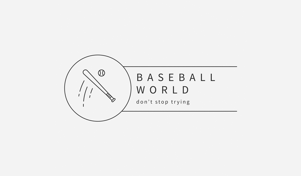 Логотип спортивной команды: бейсбольная бита и мяч