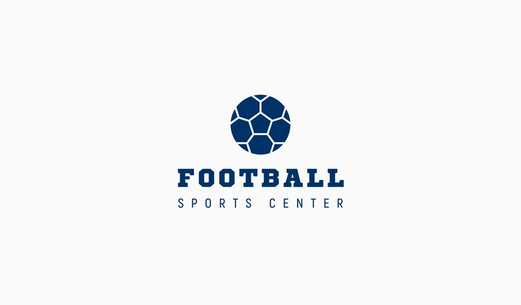 Логотип спортивной футбольной команды: мяч