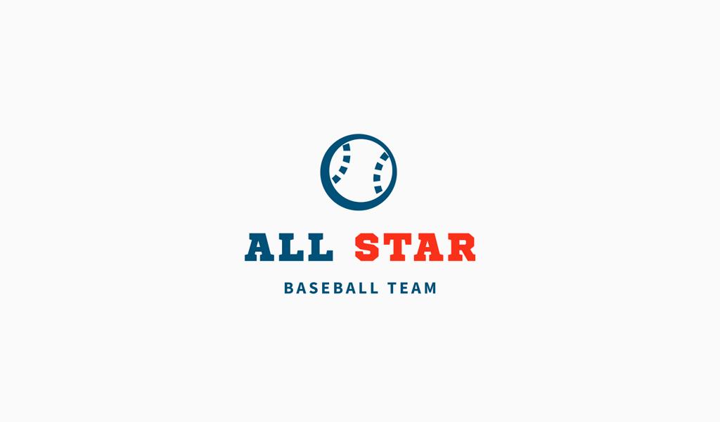 Логотип спортивной команды: бейсбольный мяч