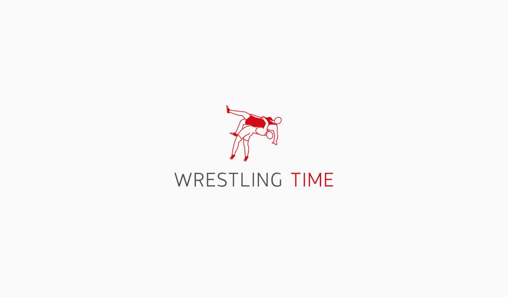 Спортивный логотип: рестлинг