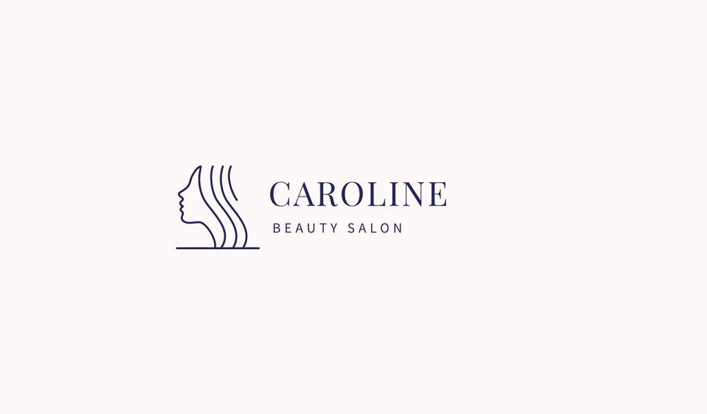 Логотип салона красоты девушка