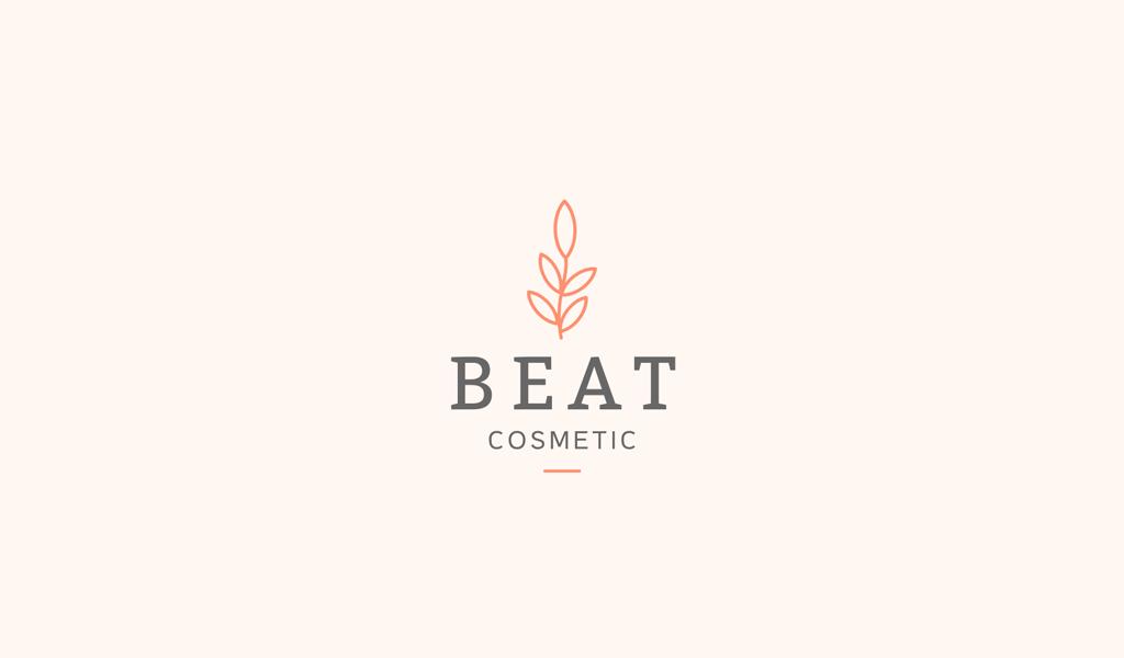 Логотип салона красоты: листья цветка