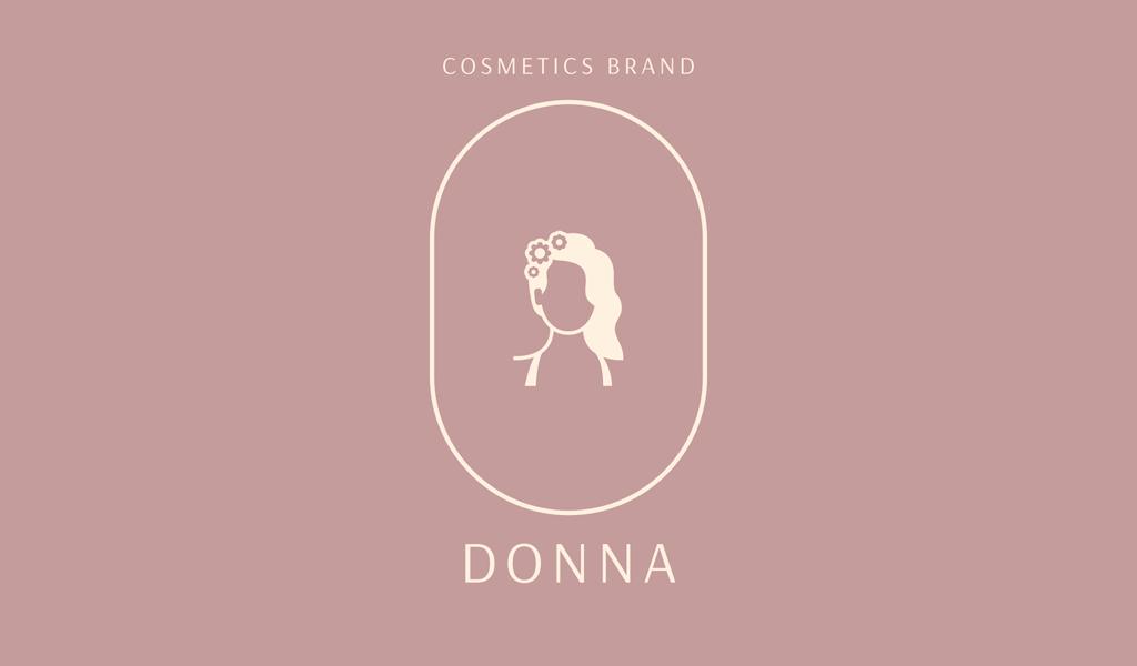 Логотип салона красоты: силуэт девушки