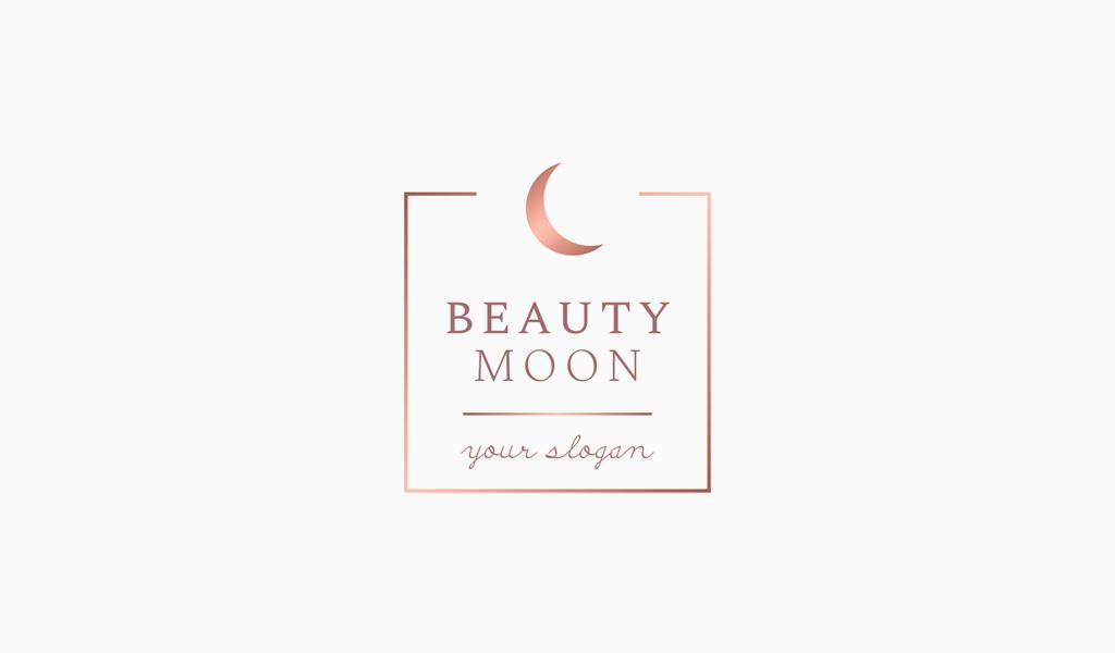 Логотип салона красоты: полумесяц
