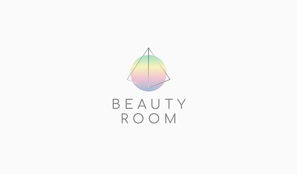 Абстрактный голографический логотип салона красоты