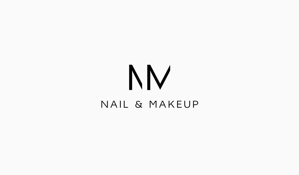Логотип салона красоты монограмма NM