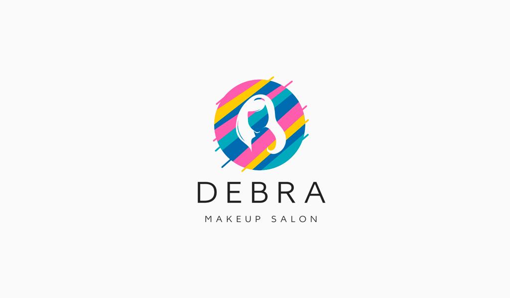 Цветной логотип салона красоты