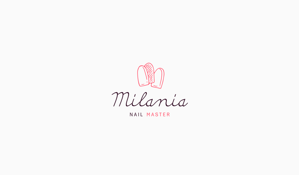 Логотип маникюрного салона: накладные ногти