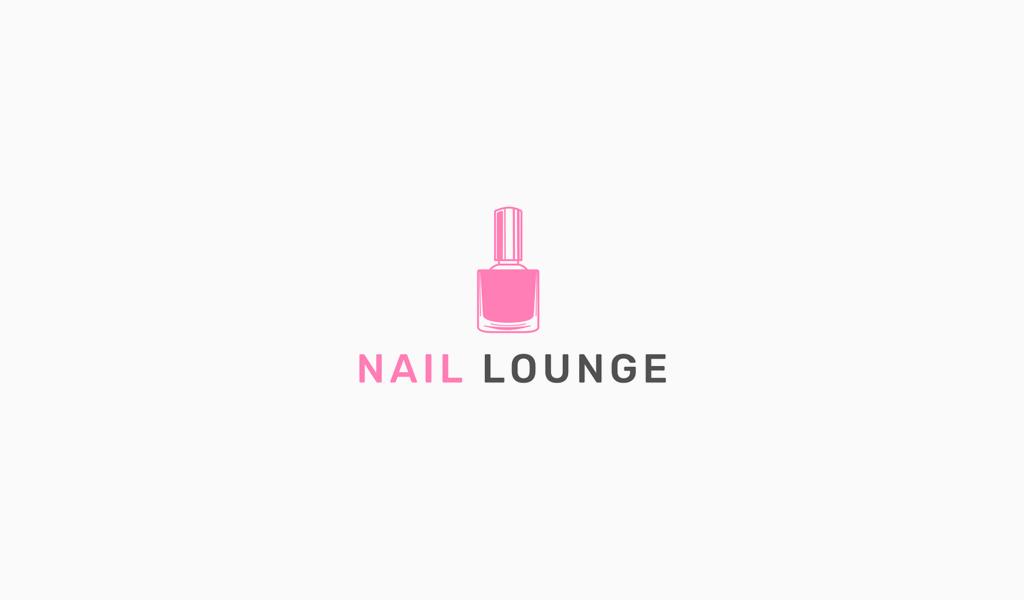 Логотип маникюрного салона: лак для ногтей