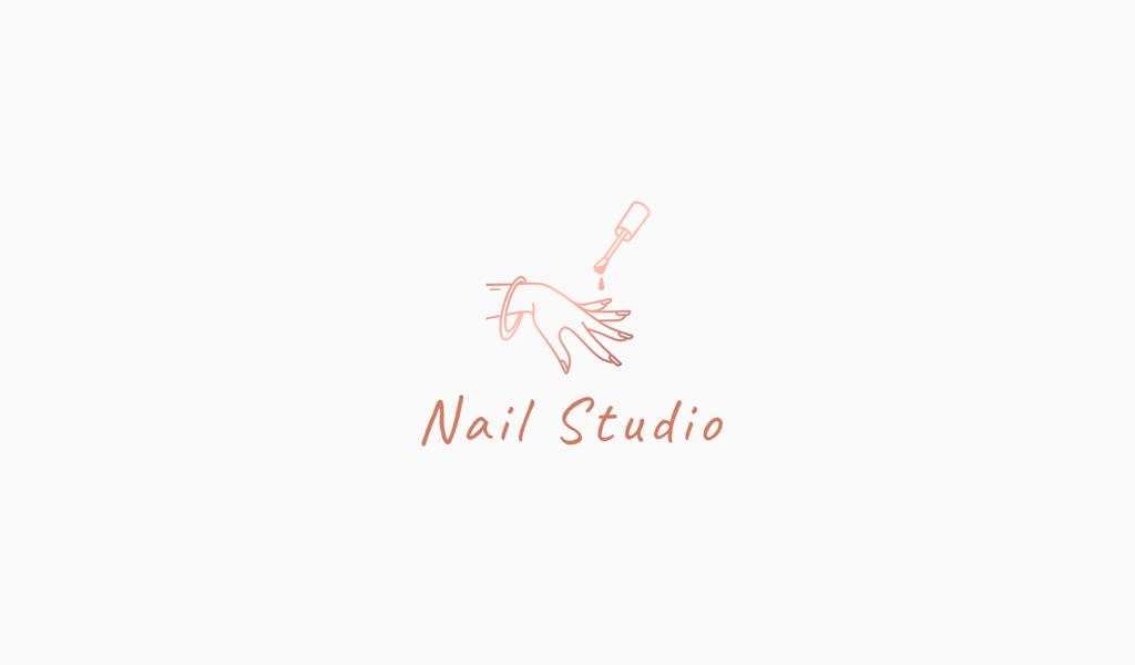 Логотип маникюрного салона: рука и лак