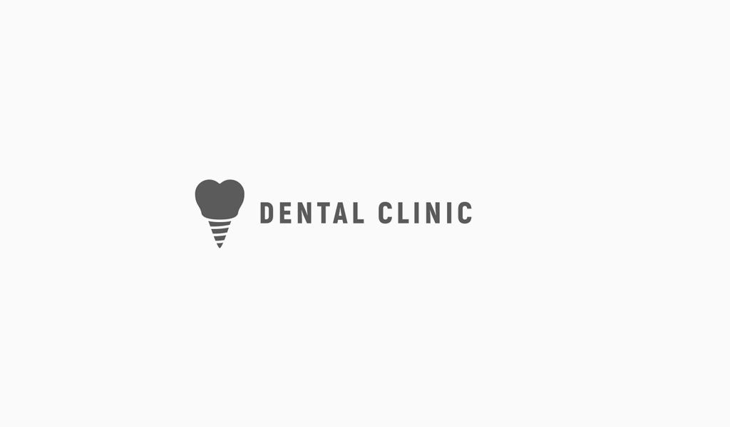 Логотип стоматологической клиники: зубной имплант