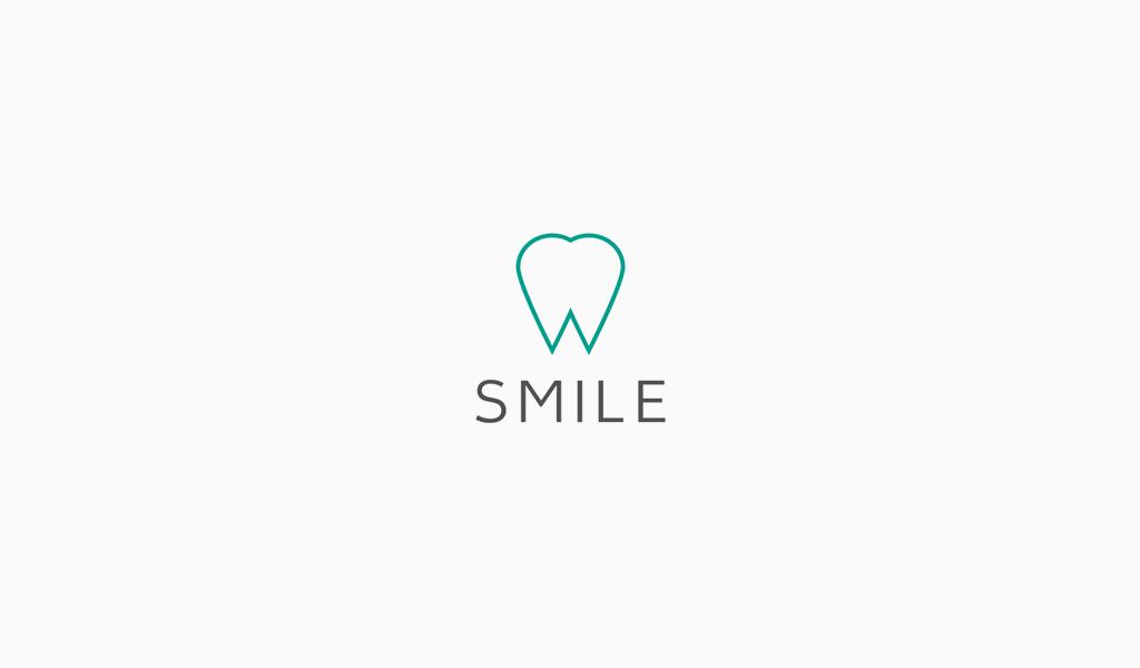 Логотип стоматологической клиники: рисунок зуба
