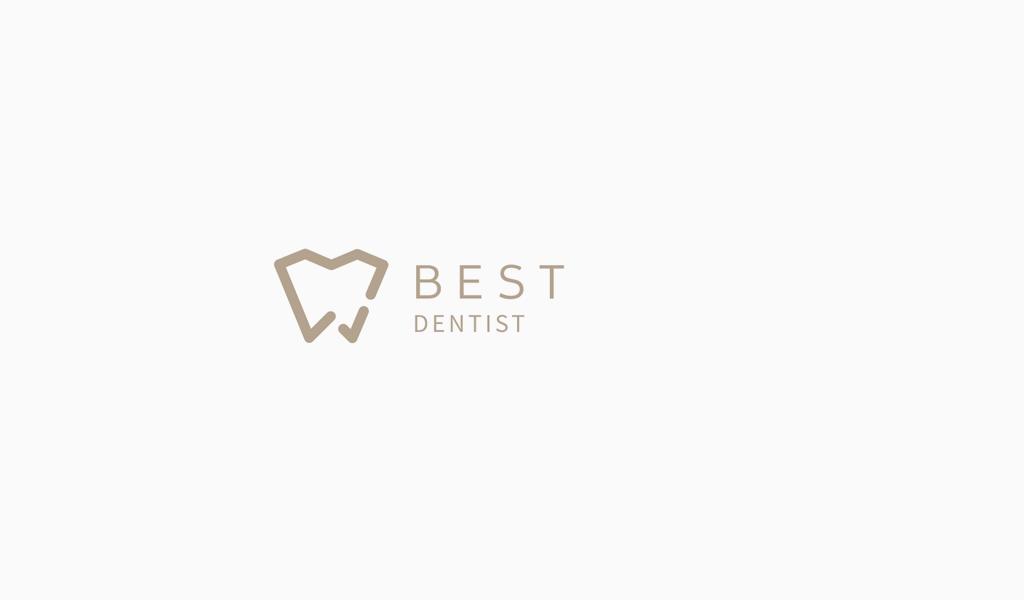 Логотип стоматологической клиники: геометрический зуба