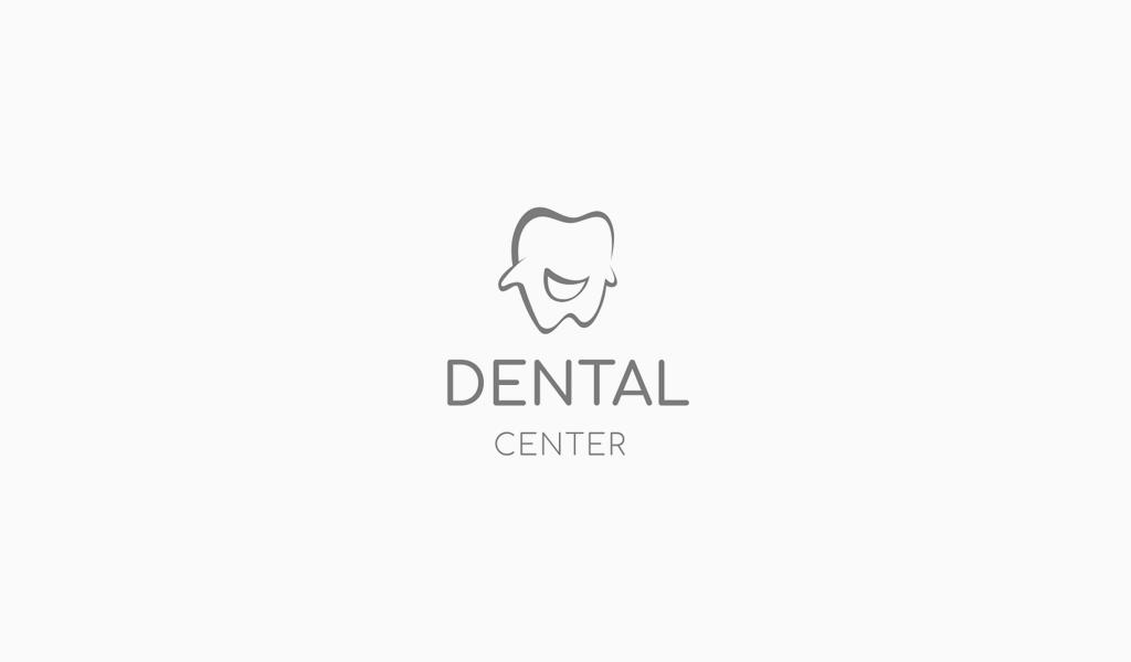 Логотип стоматологической клиники: персонаж зуб