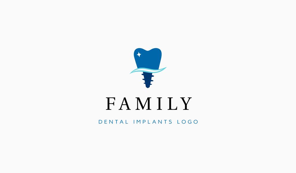 Логотип стоматологии: имплант зуба