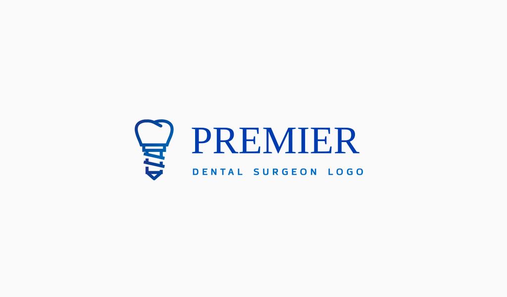 Логотип стоматологической клиники: имплант зуба