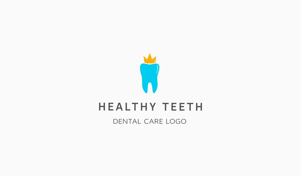 Логотип стоматологической клиники: зуб и корона