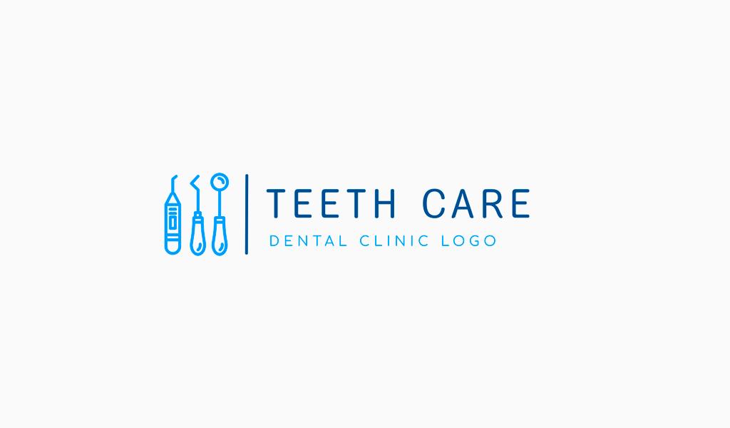 Логотип стоматологической клиники: инструменты