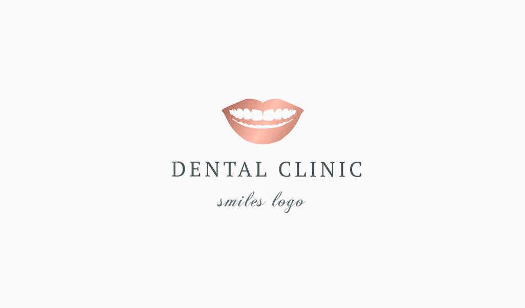 Логотип стоматологической клиники: улыбка
