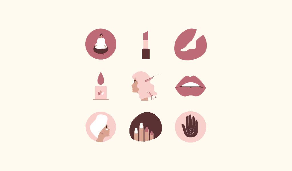 Иконки для логотипа салона красоты