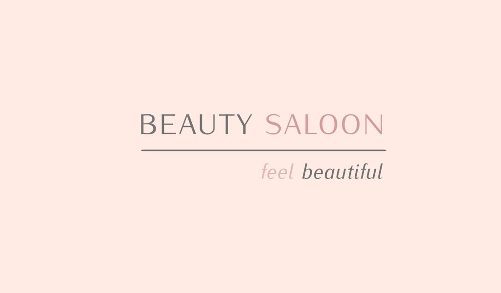 Логотип салона красоты: текстовый