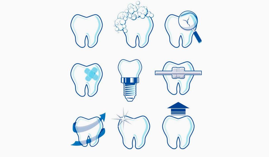 Иконки логотипа стоматологии