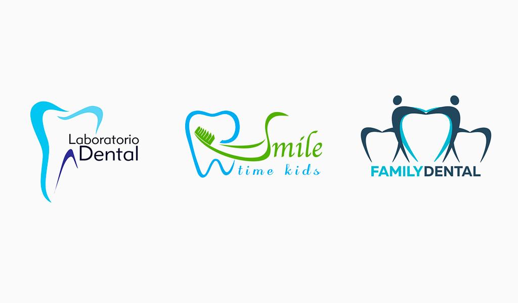 Логотипы стоматологической клиники: расцветка