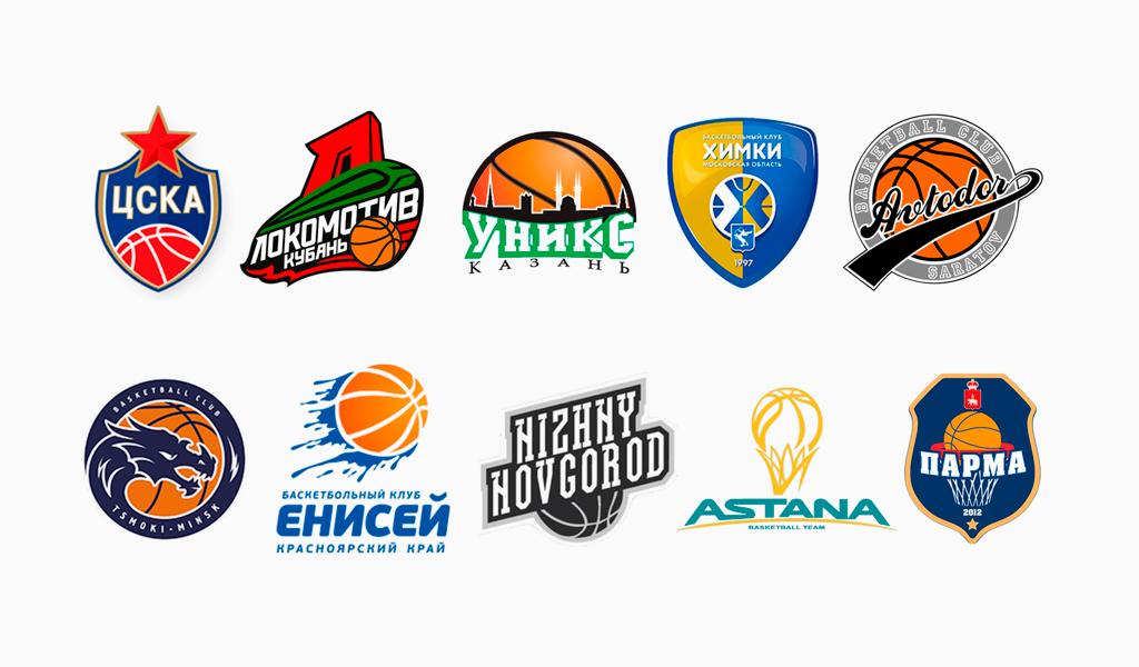 Логотипы известных спортивных команд