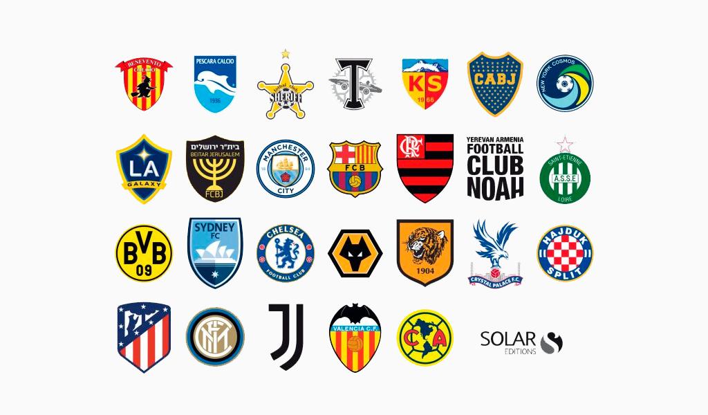 Логотипы спортивной команды: щиты