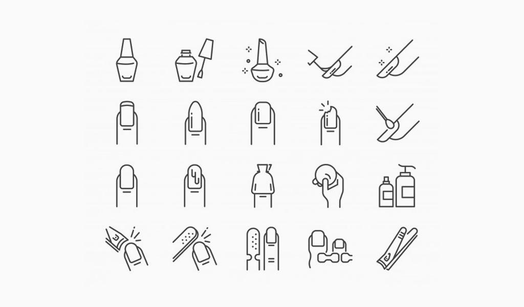 Логотип маникюрного салона: иконки