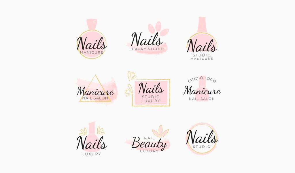 Примеры логотипов маникюрного салона
