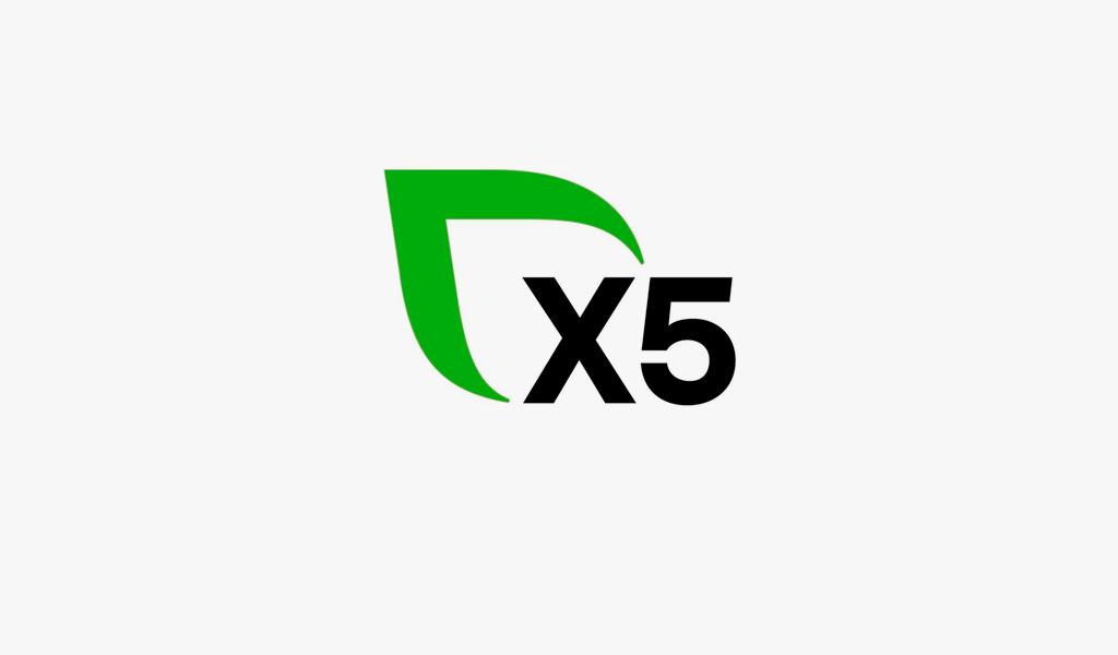 Логотип X5 Group: зеленый листок
