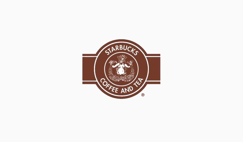 Первый логотип Старбакс: 1971