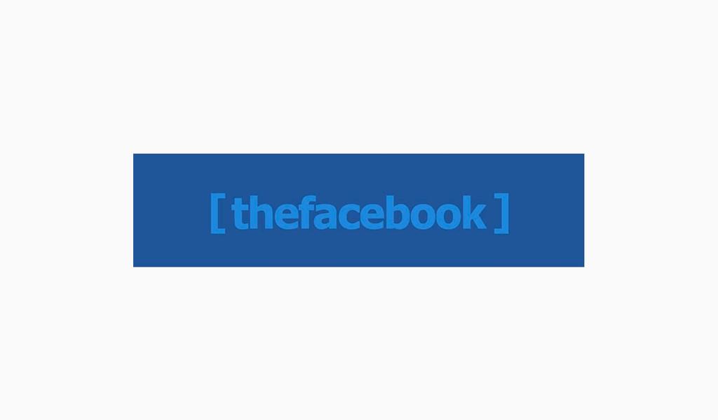 Первый логотип Фейсбук 2004