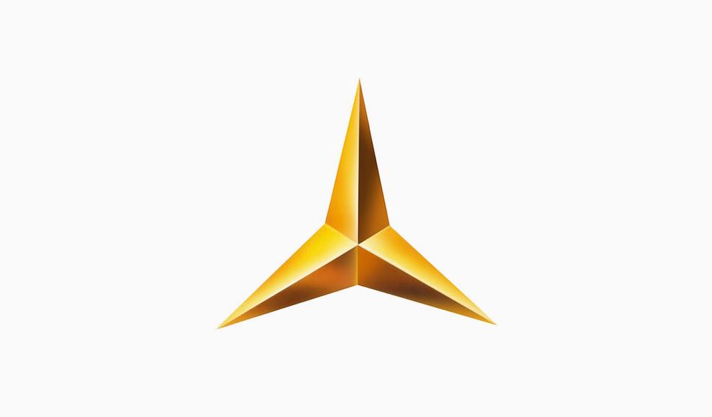 Логотип Мерседес 1909: звезда