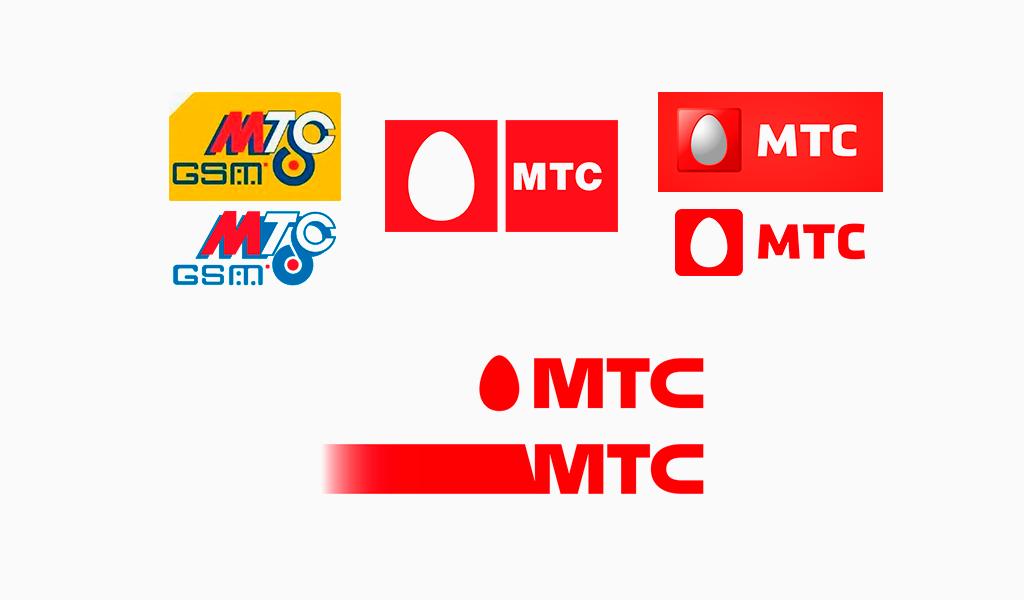 Логотипы МТС разных годов