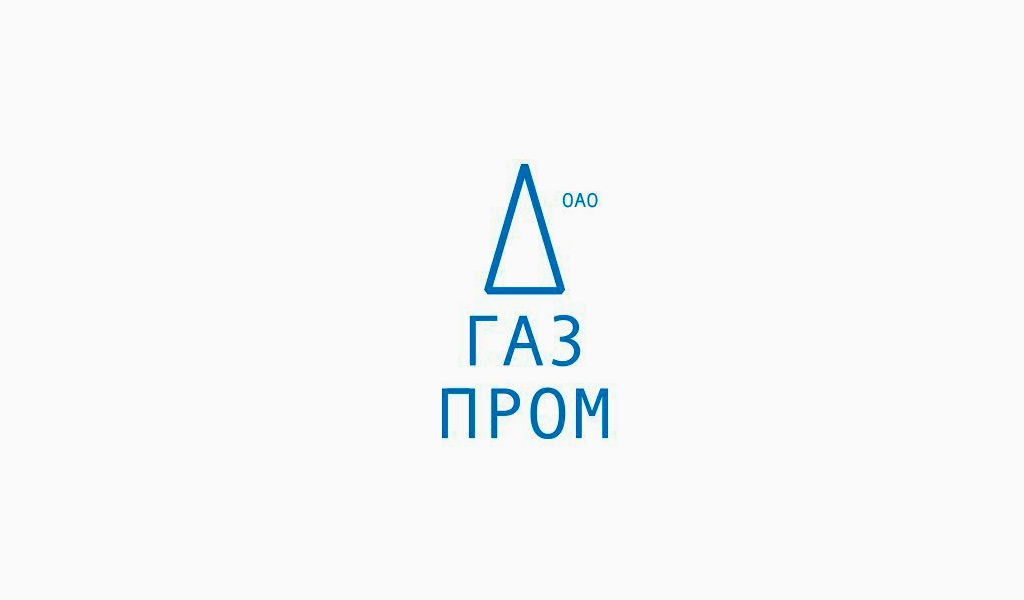 Логотип Газпром 2001