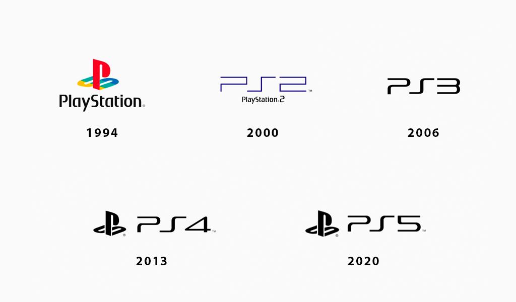 Логотипы PlayStation разных годов