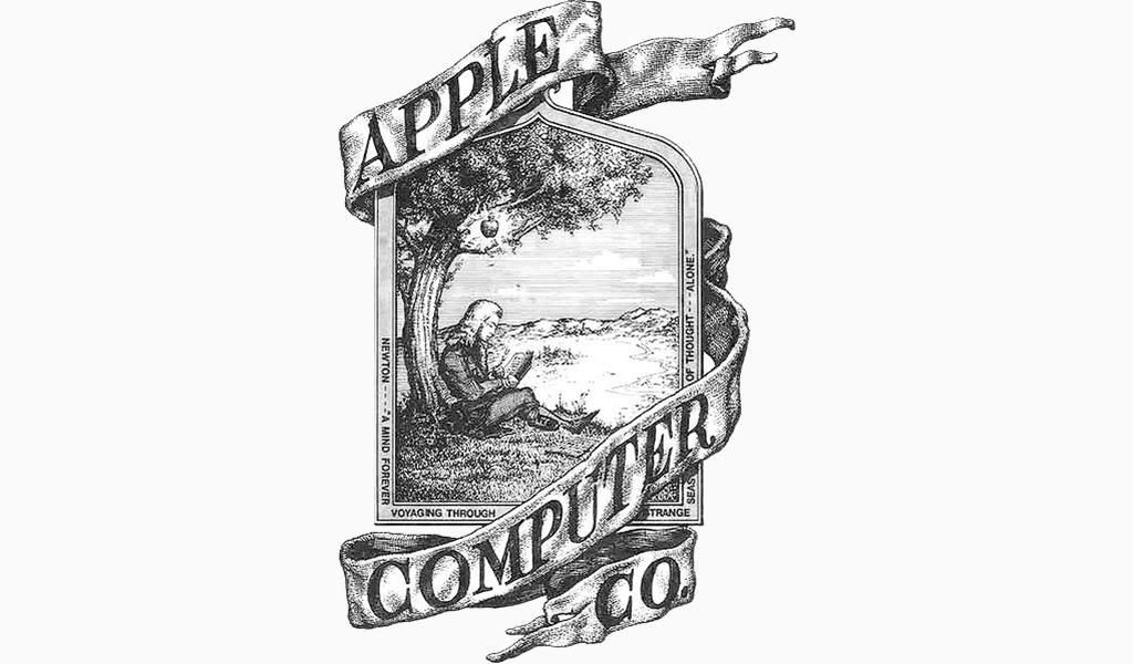 Первый логотип Apple: 1976